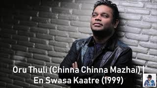 Oru Thuli (Chinna Chinna Mazhai) | En Swasa Kaatre (1999) | A.R. Rahman [HD]