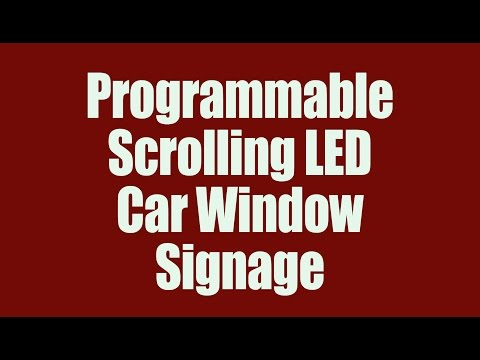 PROGRAMMABLE SCROLLING CAR WINDOW SIGN - THE MESSENGER