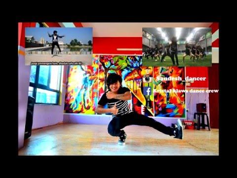 Awsome dance by Sandesh on Mere dholna sun / kristal klaws crew