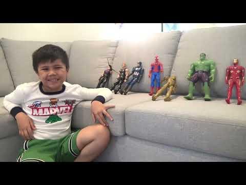 Marvel Avengers Superhero HIDE AND SEEK | Hulk Captain America IronMan SpiderMan Thor