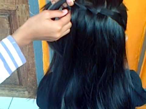 Cara mengepang rambut (Waterfall Twist) - YouTube 1d33ed3464