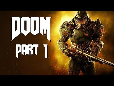 Doom Let's Play Walkthrough Part 1 - Doom Marine - Campaign Mission 1