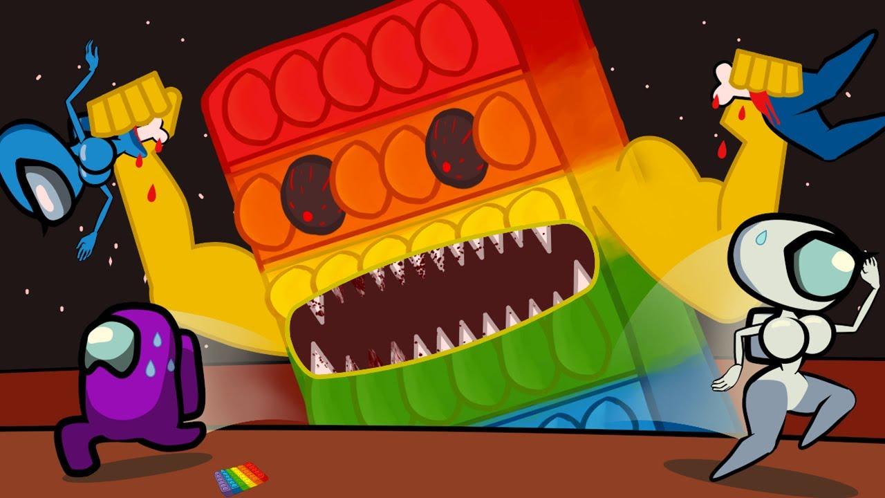 Among Us vs POP IT MONSTER - Cartoon Animation