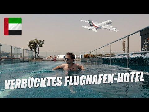 Verrücktes Flughafen-Hotel mit Infinity-Pool in Dubai (Le Meridien)