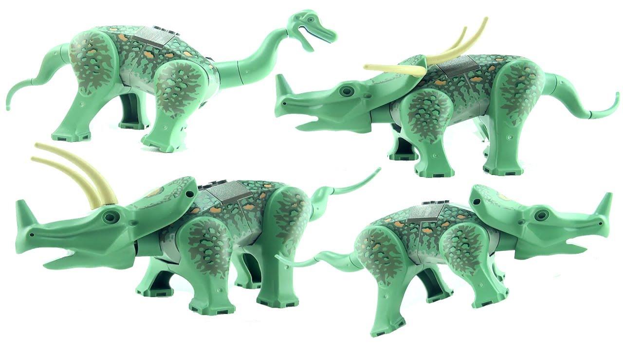 4 lego dinosaurs triceratops 6722 styracosaurus - Lego dinosaures ...