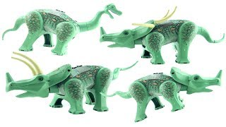 4 Lego Dinosaurs Triceratops 6722 - Styracosaurus Centrosaurus Camarasaurus - Lego Dino Speed Build