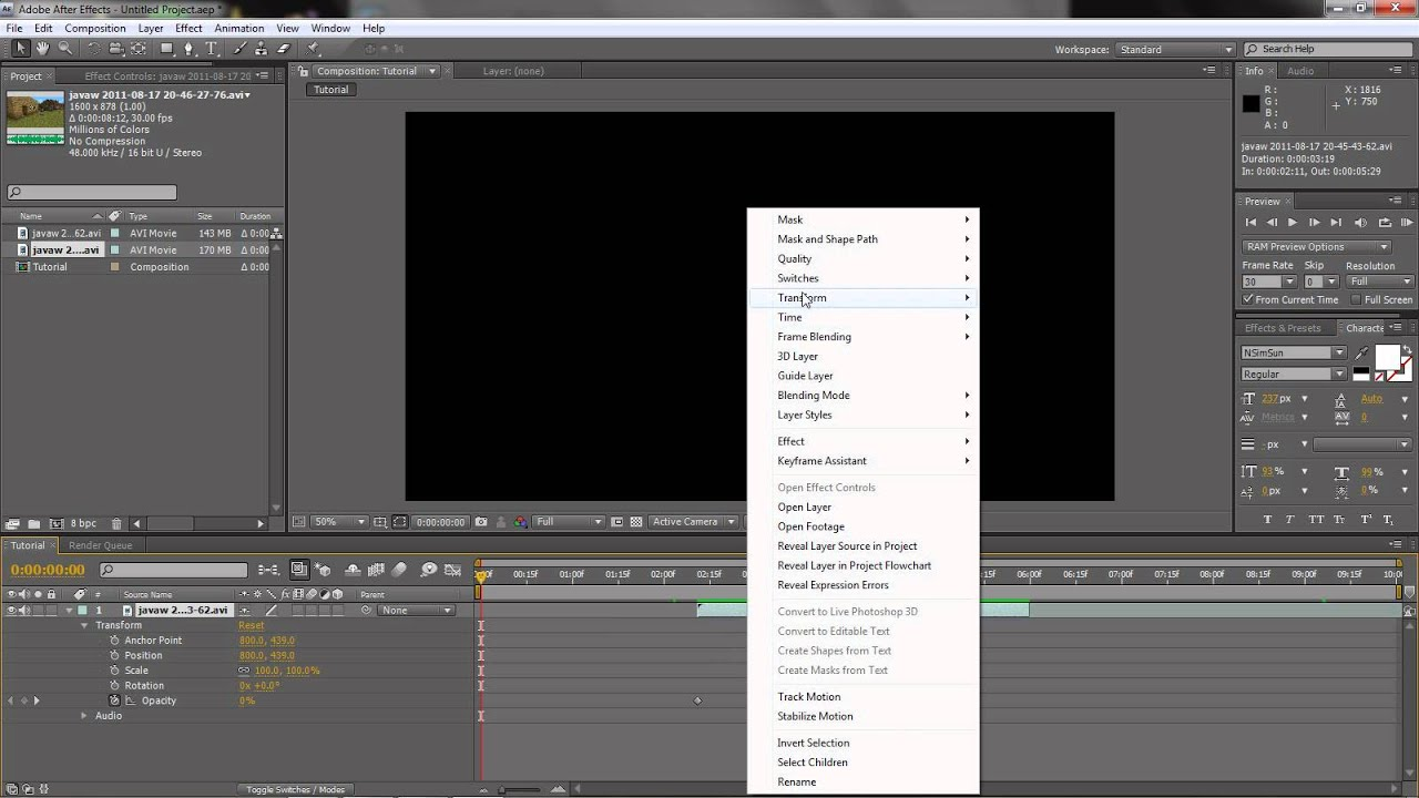 how to cut audio on after effects
