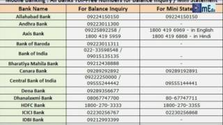 Bank Balance Inquiry Miss Call Numbers List | How To Check in 2018? thumbnail