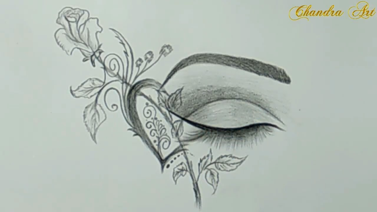 Cool drawings pencil drawing a beautiful eye easy