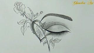 cool drawings drawing interesting pencil easy eye paintingvalley