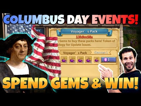 F2P Columbus Day Rewards Spend Gems And WIN Castle Clash
