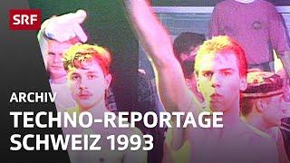 Unterwegs an einer Technoparty - Reportage (1993) | Jugendszenen Schweiz | SRF Archiv