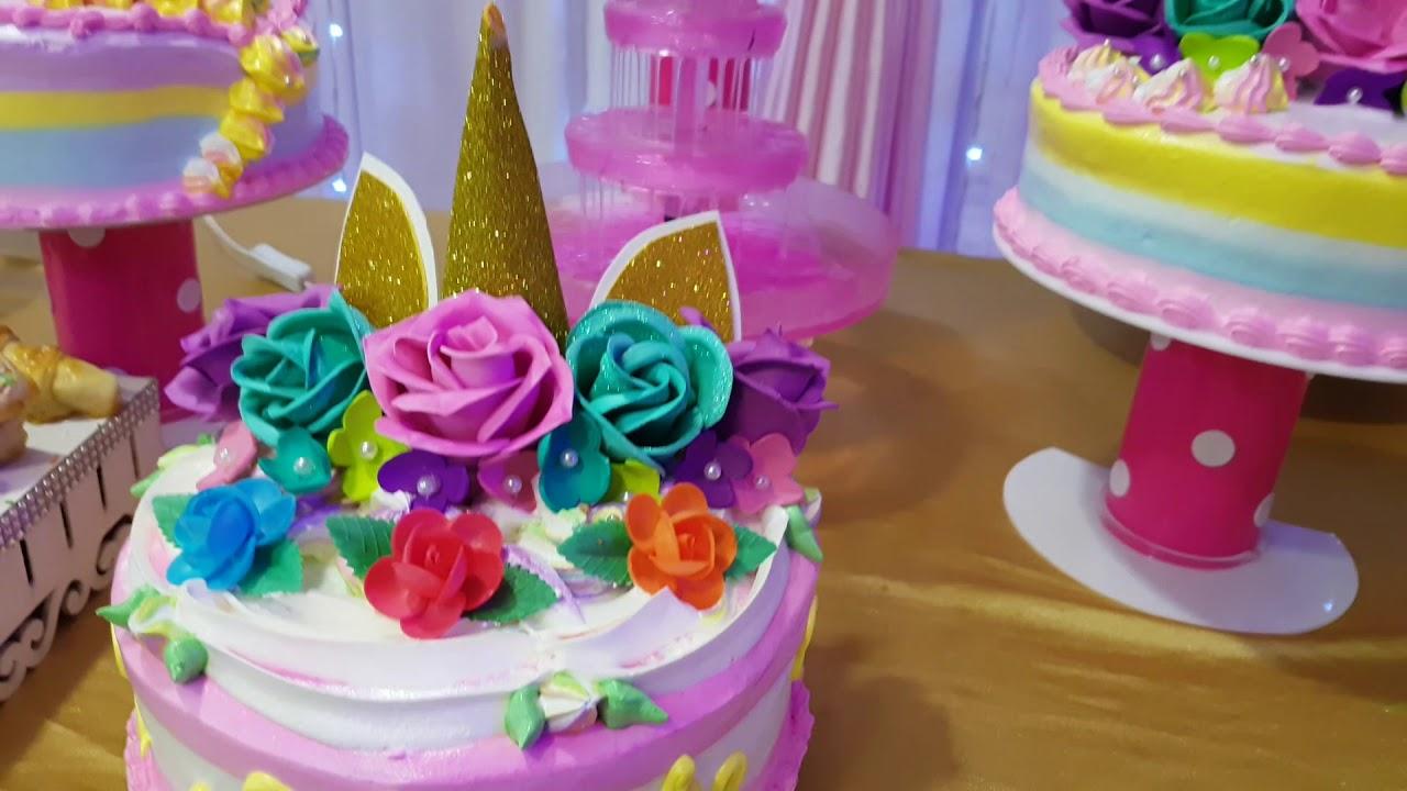 Unicornio party tematica decoracion youtube for Decoracion para la pared de unicornio