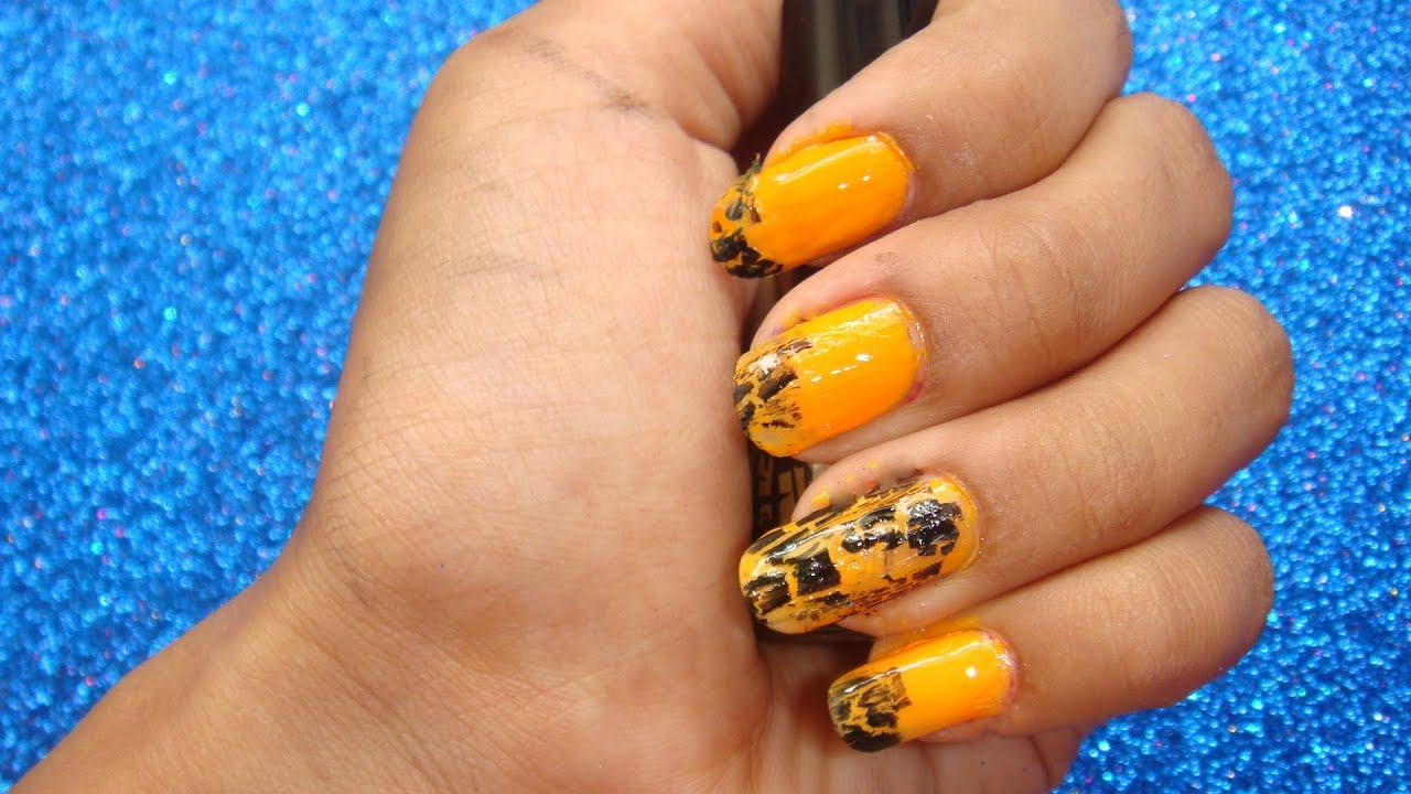 How to use crackle nail polish? Crack Nails tutorial - YouTube