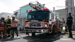 Shenandoah, PA firefighters battle house fire - 04/07/2018
