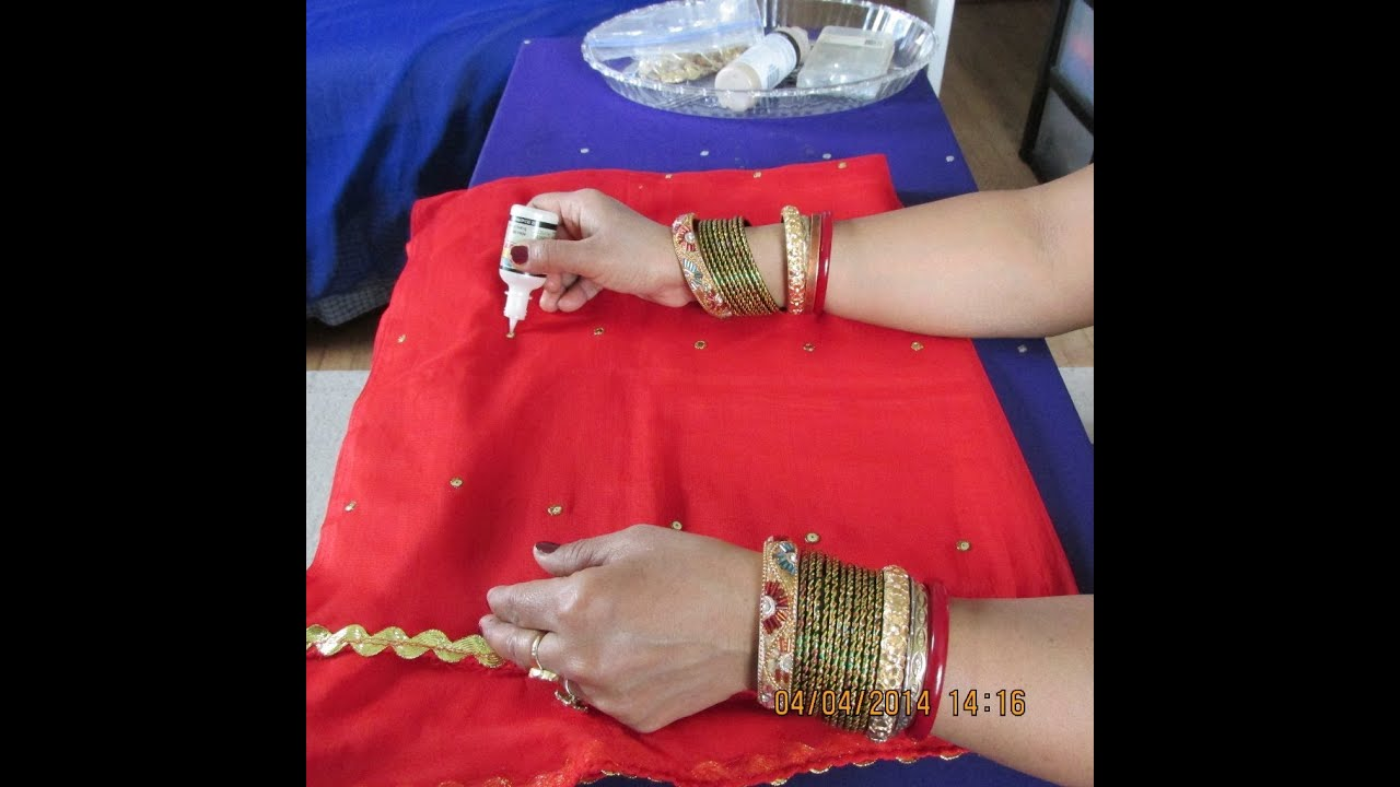 How To Design Dupatta At Home