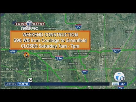 Westbound I-696 closing in Oakland County on Saturday, eastbound on Sunday