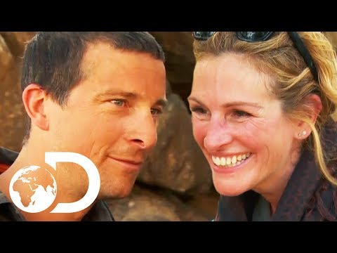 Julia Roberts Faces Her Fear Of Heights To Get Vaccines To Children  Running Wild With Bear Grylls