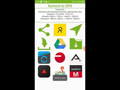 Komoot to GPX