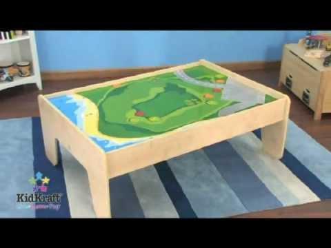 KidKraft Natural Train Table | 17851 - YouTube