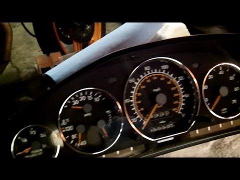 Mercedes sl500/300/600..., r129 ,w140 aftermarket chrome gauge trim installation