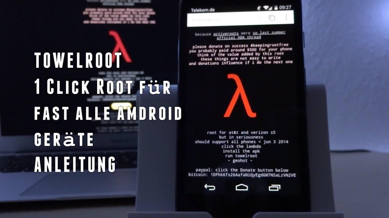 TOWELROOT - Der 1 Click ROOT für fast alle ANDROID Geräte -  Anleitung/Tutorial