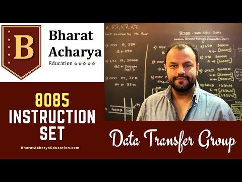 8085   Instruction Set   Data Transfer Group   Bharat Acharya Education   Gate Exam