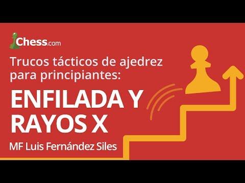 Trucos tácticos de ajedrez para principiantes: Enfilada y Rayos X