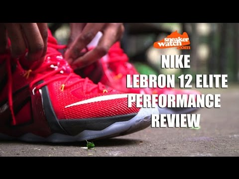 huge selection of 7fc15 cde5b SneakerWatch Performance Review  Nike LeBron 12 Elite - YouTube