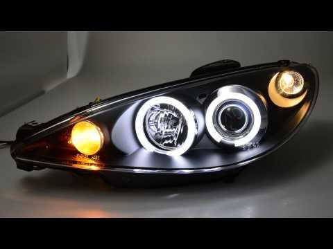 Sw Ccfl Angel Eye Scheinwerfer Peugeot 206 Black Sw Tuning