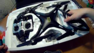 Распаковка Huanqi H899 B005 RC Quadcopter