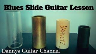 improvising blues slide guitar lesson - using open e tuning