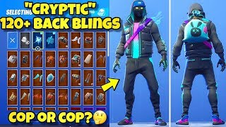 "NEW ""CRYPTIC"" SKIN Showcased With 120+ BACK BLINGS! Fortnite Battle Royale (CRYPTIC SKIN COMBOS)"