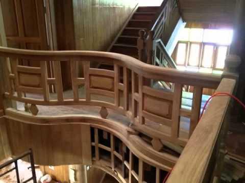 ตัวอย่างอุปกรณ์ราวบันไดไม้@บ้านไม้