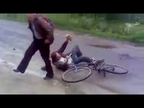 Собака подрезала пьяного мужика на велосипеде))