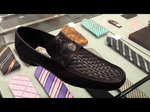 VERSACE black SLIP on LOAFER SHOES 2013 WINTER collection