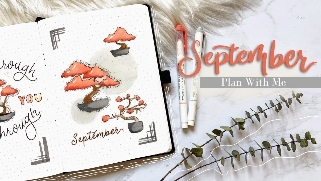 Plan With Me September 2020 Bullet Journal Set Up Bonsai Youtube