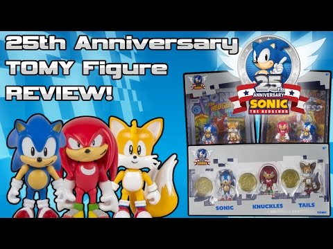 Sonic The Hedgehog 25th Anniversary TOMY Figure Review!