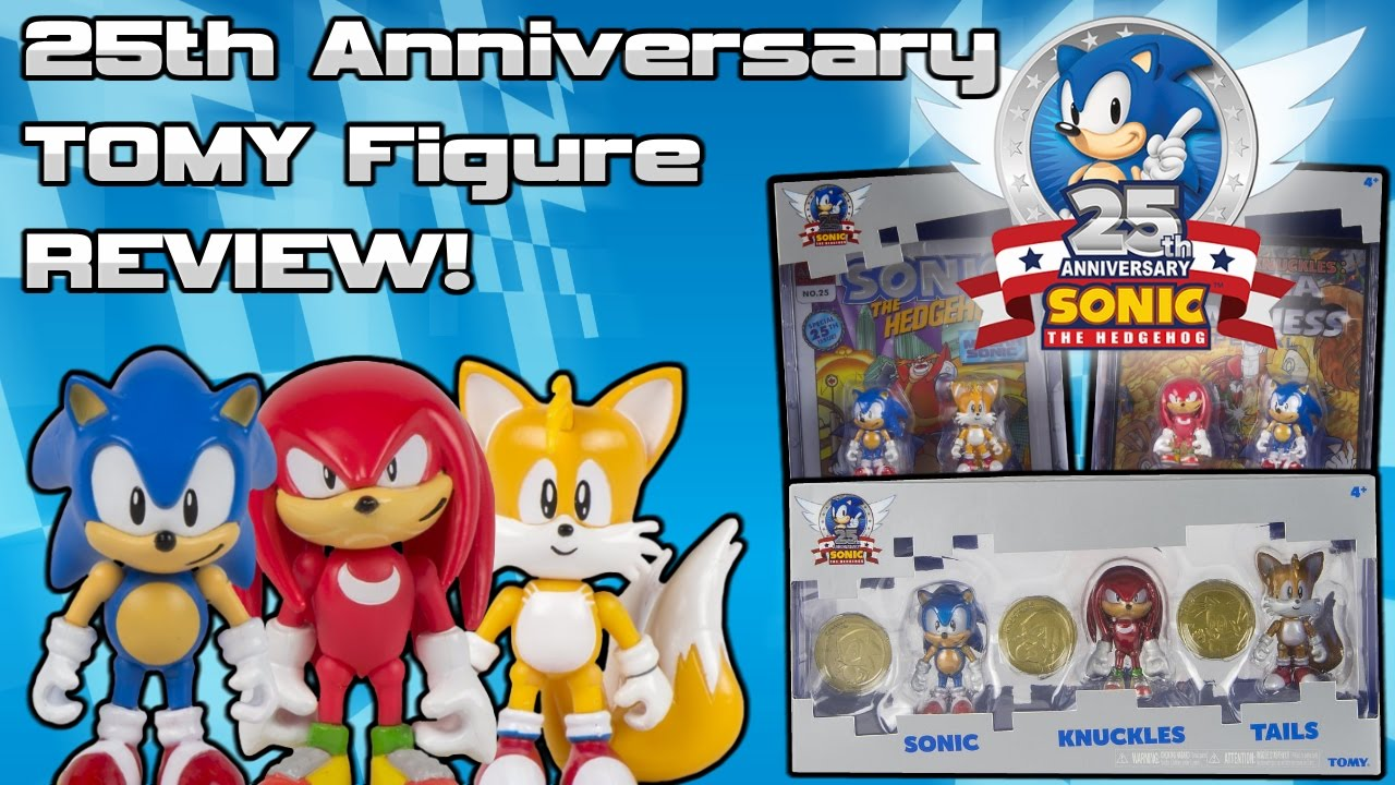 Sonic The Hedgehog 25th Anniversary Tomy Figure Review Youtube