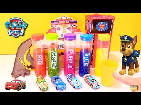 Best Learning Colors Video for Children - Cars 3 Paw Patrol Skye Chase Slime Gumballs
