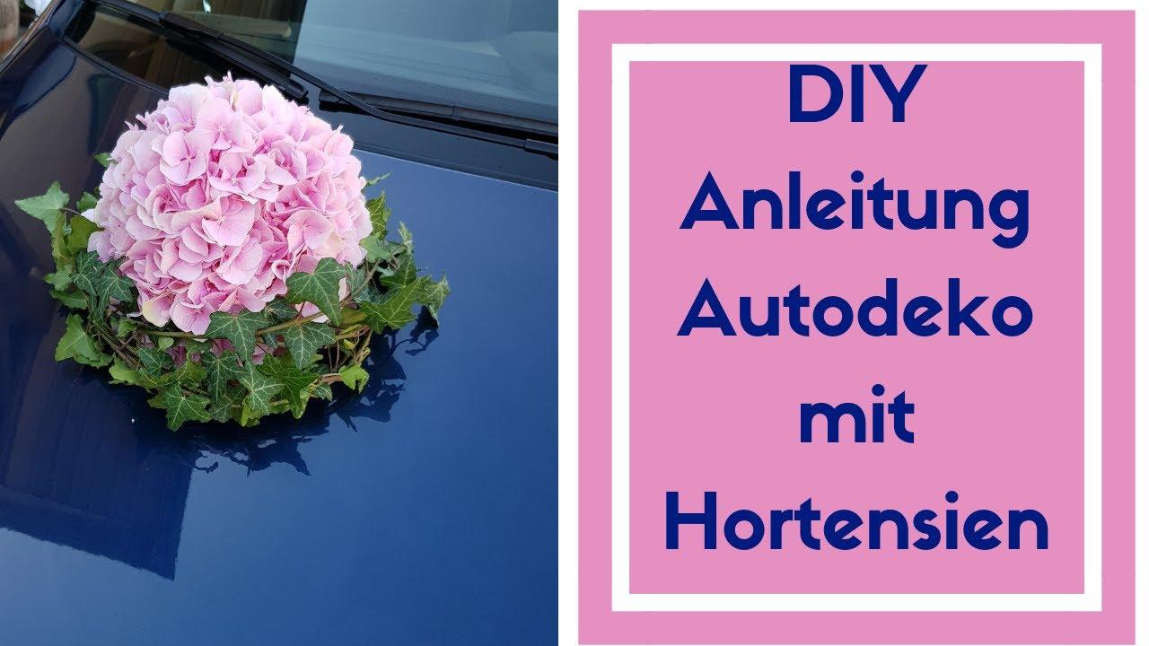 Auto Dekoration Fur Hochzeit Selber Machen Hortensienkugel Mit