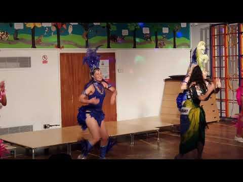 Marta Scott Dance Company Salsa demo at Kyra event