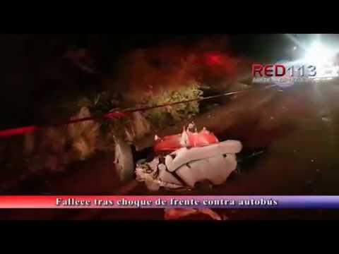 VIDEO Fallece tras choque de frente contra autobús en el Libramiento de Zamora
