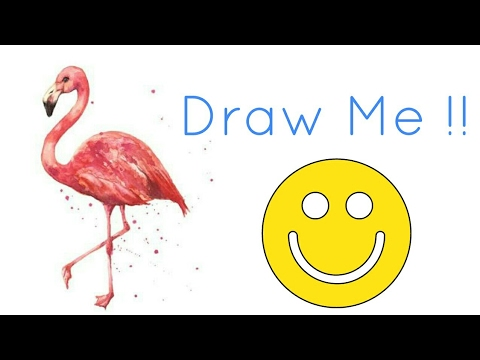 How To Draw A Flamingo Very Easy For Kids Youtube