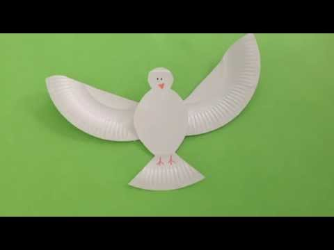 How To Make A Paper Plate Dove Youtube