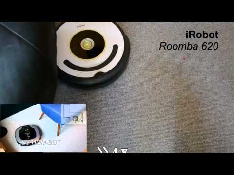 lg hombot vs irobot roomba automatic vacuum cleaner comparsion funnydog tv. Black Bedroom Furniture Sets. Home Design Ideas