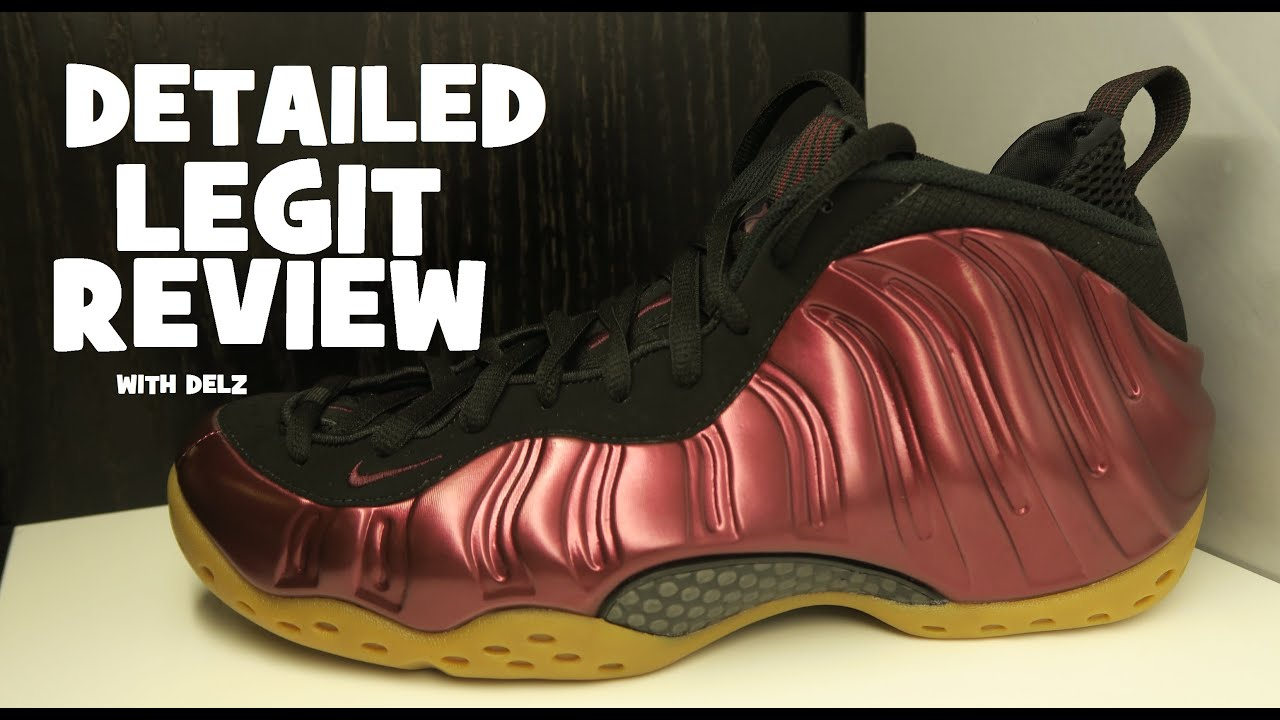 ae005d425250f Nike Air Foamposite One Maroon Gum Bottom Sneaker (Detailed Review ...