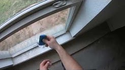 Removing new construction window stickers