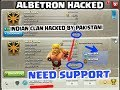 INDIAN CLAN HACKED BY PAKISTAN | ALBETRON HACKED | NEED YOUR SUPPORT | CLASH OF CLANS (HINDI)