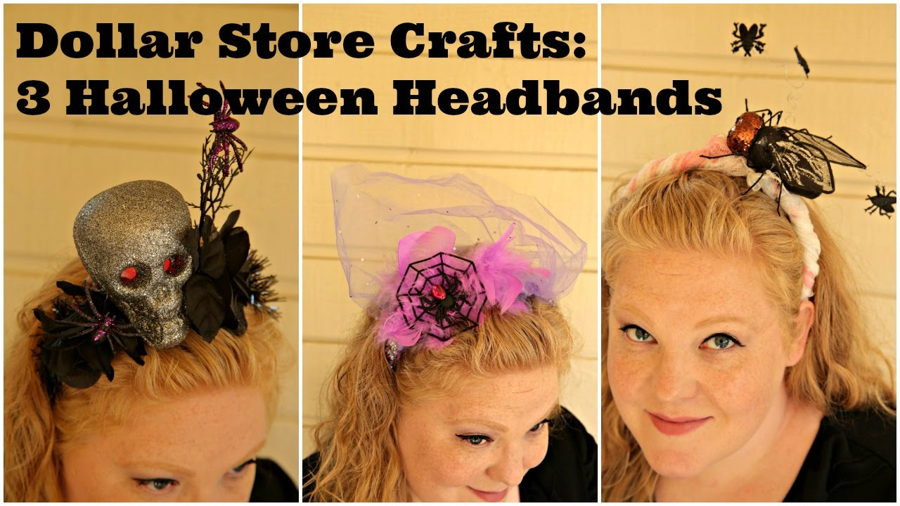 dollar store crafts three halloween headband craft ideas youtube